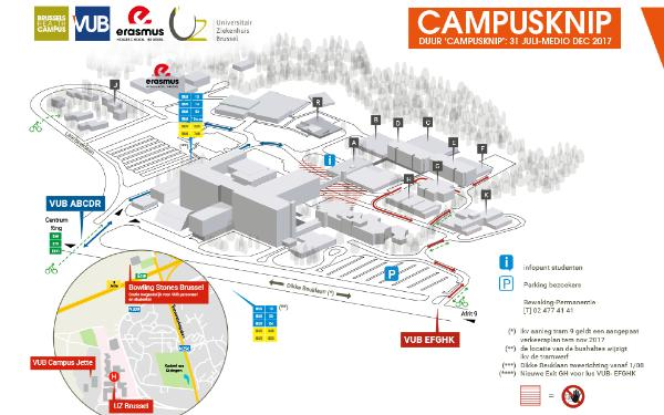 Map of the VUB Campus